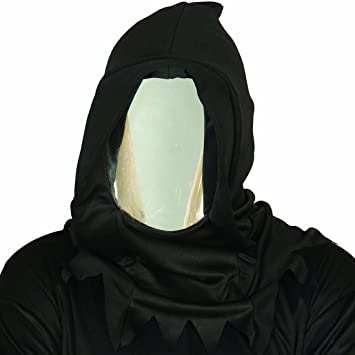 mirror mask. reflecting phantom masquerade mirror mask with hood carnival face costume anonymous death outfit accessory halloween facial