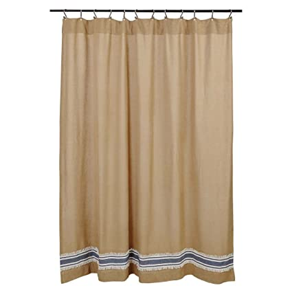 Amazon Piper Classics Mill Creek Burlap Stripe Shower Curtain