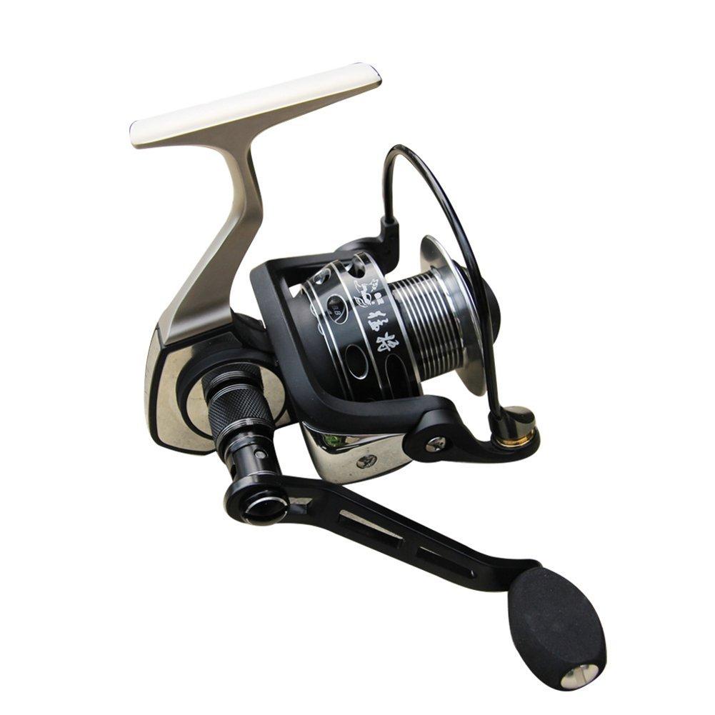 Winbest釣り9 + 1bb 5.2 : 1ブラックメタルボディSpinning Reel 4000 Series  B01G6FV55G