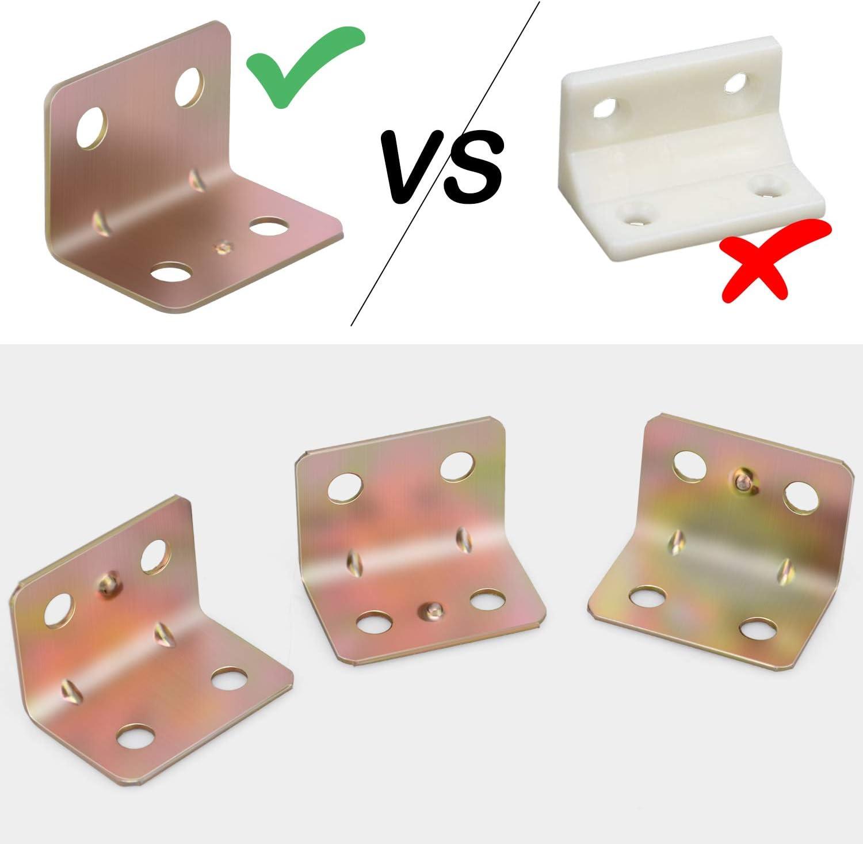 30 Pieces Corner Braces 20 mm x 20 mm x 25 mm Stainless Steel Brace Corner L Joint Right Angle Bracket Fastener