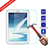 Kingsource Samsung Galaxy Note 8.0 inch GT - N5100 / N5110 Tempered Glass Screen Protector Film [2.5D Round Edge] [9H Hardness] [0.33MM Thin][Crystal Clear]