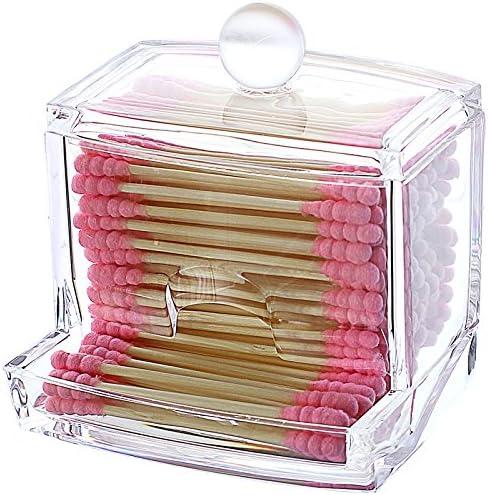 oyfel organizador caja de almacenaje transparente acrílico cajones cosmética maquillaje joyas Pintalabios coton-tige tampón de algodón 1 pcs: Amazon.es: Hogar