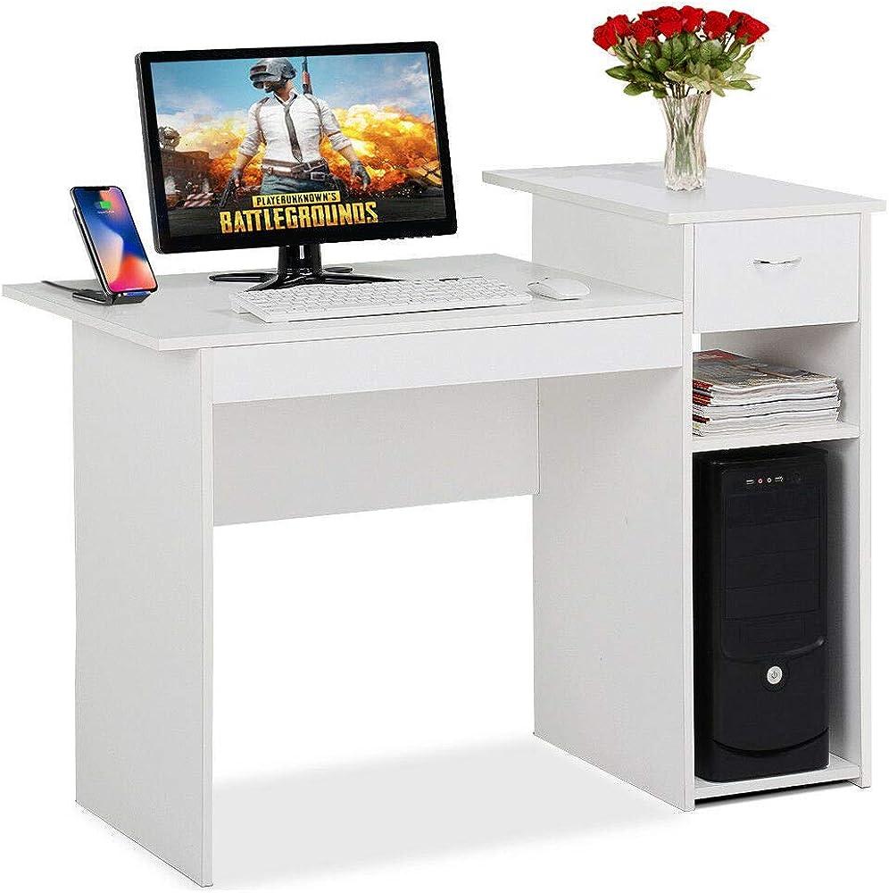 - Amazon.com: Fainosmny Home Desktop Computer Desk With Drawers Home