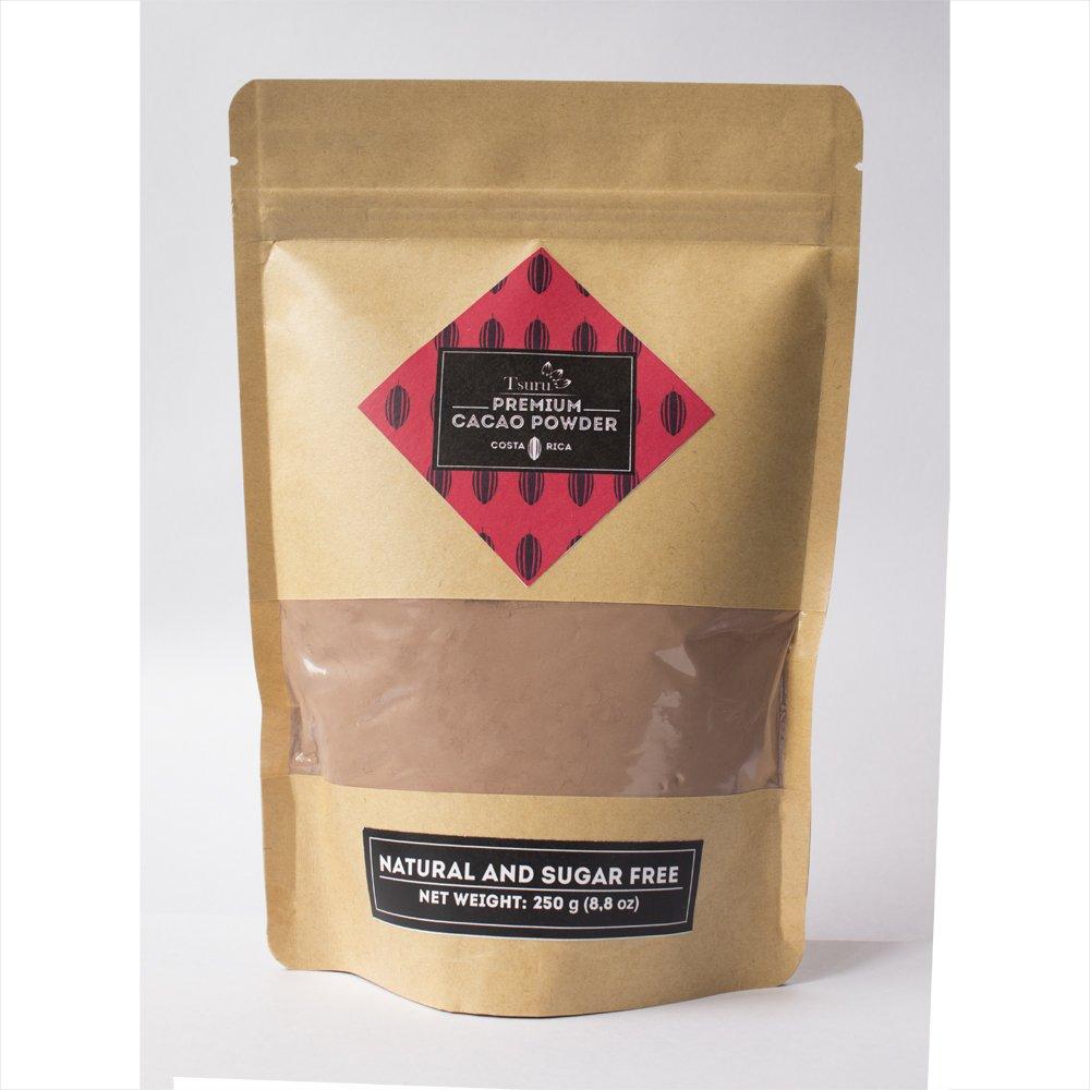 Tsuru Premium Cacao Powder from Costa Rica natural sugar free, 8,8 oz