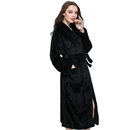 Autumn And Winter Couple Beibei Cashmere Dressing Gown Ladies Thick