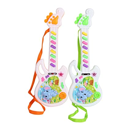 Amazon Com Toyvian Electronic Musical Guitar Toy For Toddler Baby