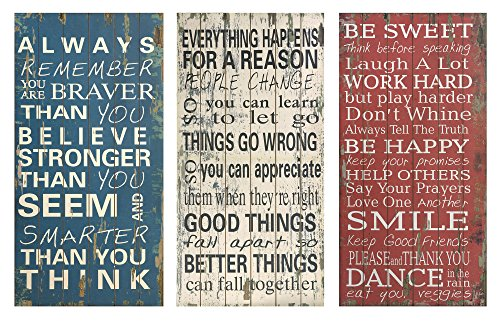 Patriotic Red White Blue Wall Decorations Rules of Life Wall Decor
