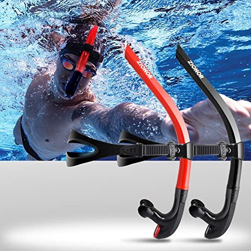ZIONOR Snorkel Lap Swimming Swimmer Training Diving Snorkeling Comfortable Mouthpiece One-Way Purge Valve for Pool Open Water