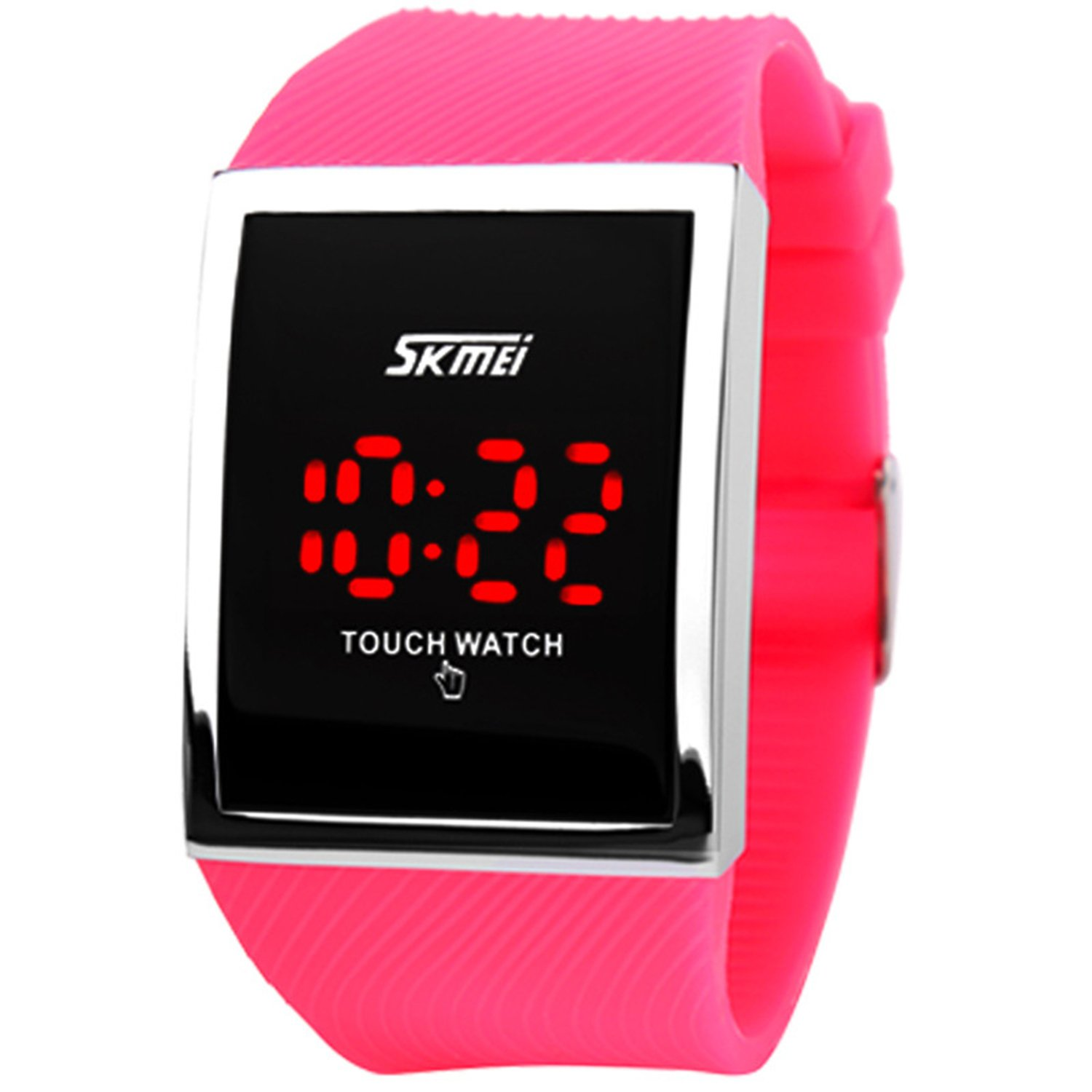 Touch Screen Outdoor Sports Black Watch with LED, Digital for Boys Girls, Above 10 Years Old Kids by FIZILI (Image #8)