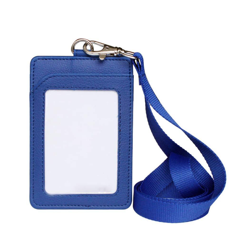 7.5 cm,Rosso Chakil cordino da collo in pelle PU porta badge in tasche della carta di clip di sicurezza note Gift moschettone portachiavi torcia cordino Cruise work 11.2