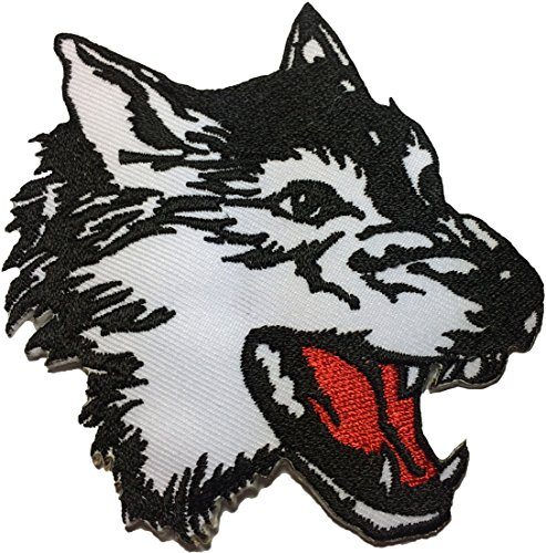 Papapatch Wolf Fox Roaring Head Face Animal Wild DIY Sewing on Iron on Embroidered Applique Patch - Union Street On Shops