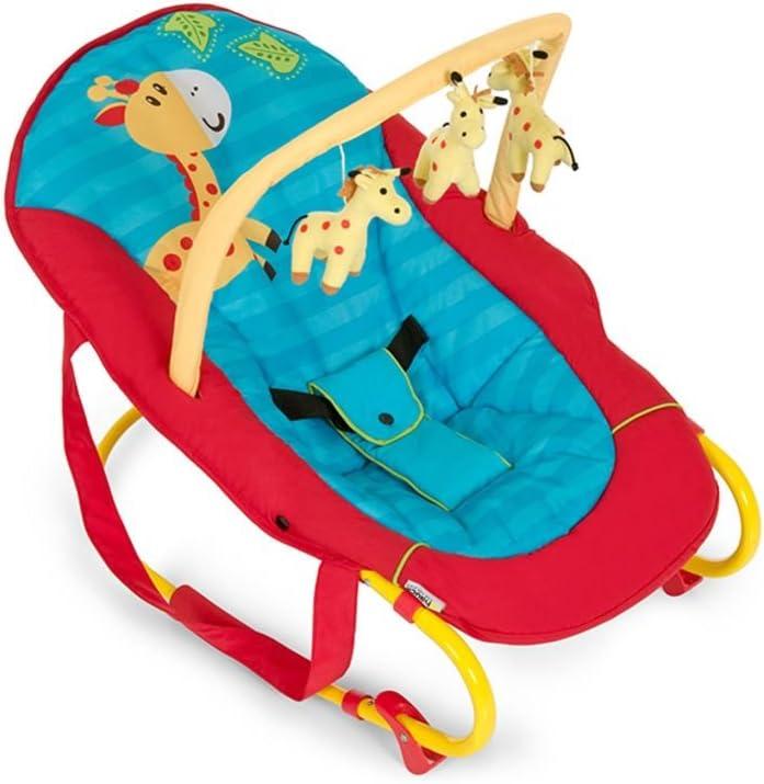 Hauck Bungee Deluxe 633366 Hamaca Bebés con Respaldo Ajustable, Antivuelco, Multicolor (Jungle fun)