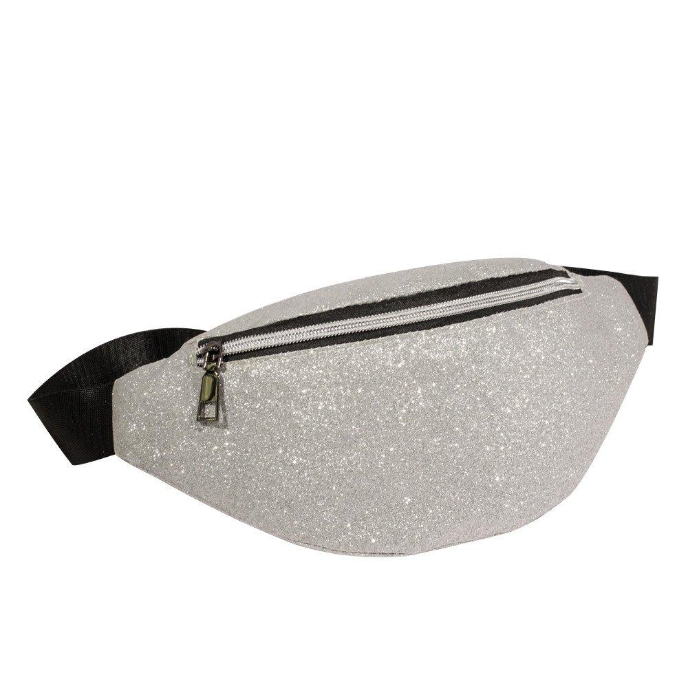 Danhjin Men Women Fashion Zipper Closure Bling Sequins Shoulder Phone Bag Messenger Bag Chest Bag by Danhjin (Image #1)