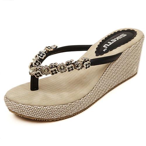 Women's Casual Flip-Flops Slope Platforms Bohemian Sandals Slides