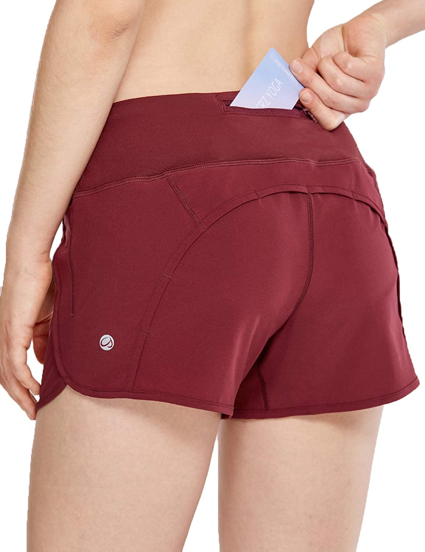 10cm CRZ YOGA Damen Sport Shorts Soprtswear Shorts 2 in 1 Laufshorts Elastizit/ät Leicht