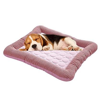 FOONEE Alfombrilla de refrigeración para Mascotas, Suave y Transpirable para Interior o Exterior, caseta