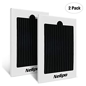 Nelipo Refrigerator Air Filter Replacement - Fits for PAULTRA Pure Air Ultra Electrolux EAFCBF 242047801,242061001,7241754001 , 2-Pack