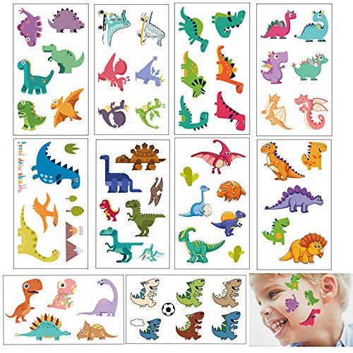 Temporary Tattoos for Kids Body Art Cartoon Animal Stickers Dinosaur Tattoos for Boys Girls Teacher child Craft Birthday Party Favors Gifts Scrapbook Making Reward Fun Toys Creative Face Arm Stickers]()