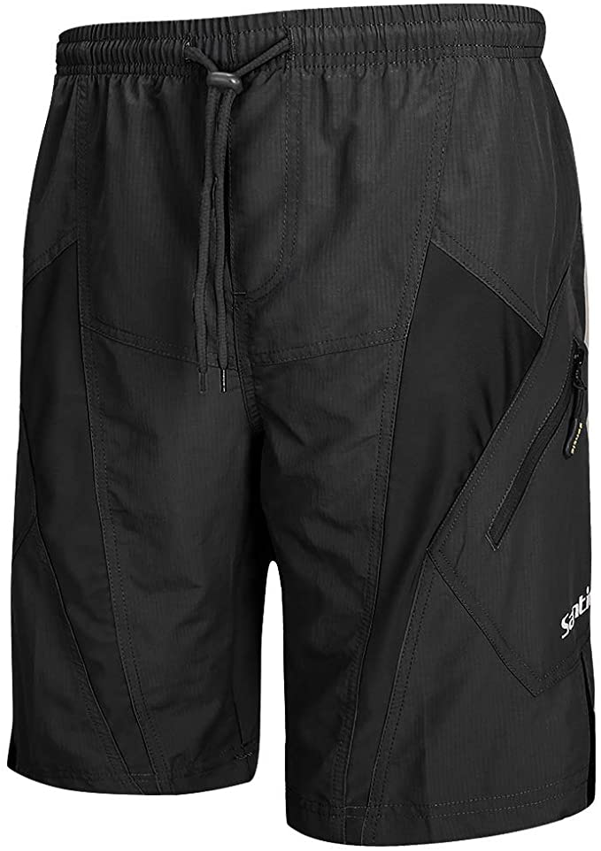 best padded cycling shorts: Santic Men's Mountain Bike Loose-Fit Padded Shorts