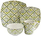 Waverly 16-Piece Piastrelle Dinnerware Set, Yellow