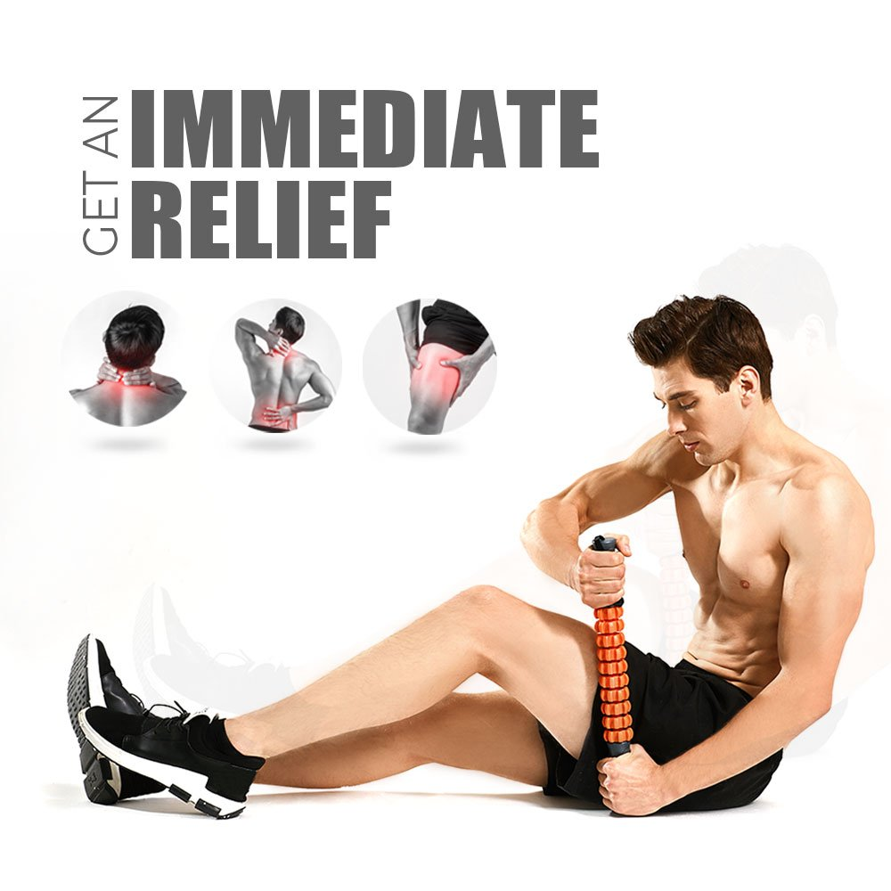 Kamileo Muscle Roller, Massage Roller for Relieving Muscle Soreness Cramping Tightness, Help Legs Back Joints Recovery (Workout Poster Included). by Kamileo (Image #3)