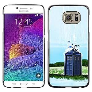 Caucho caso de Shell duro de la cubierta de accesorios de protección BY RAYDREAMMM - Samsung Galaxy S6 - Dr 0MS - Cabina de Policía