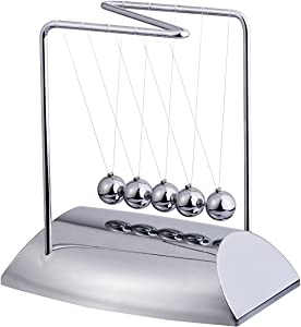 HuiSiFang Newton's Cradle Physics Science Toy Balance Swing Ball Decoration for Home and Office Desk