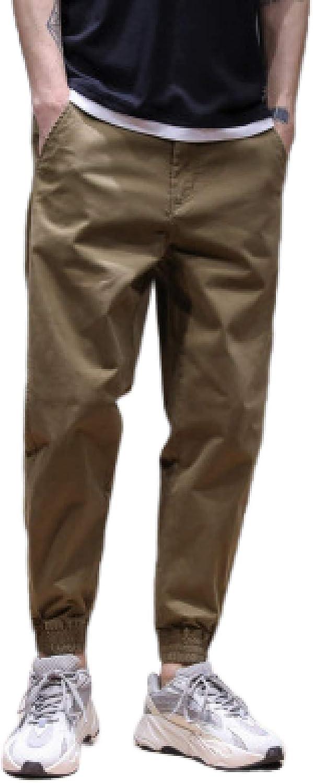 Pantalones Casuales para Hombre Pantalones Chinos elásticos ...