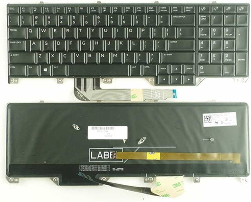 KEYSHEN Laptop Notebook Replacement Keyboard for DELL Alienware M17 17 R4 R5 US Layout