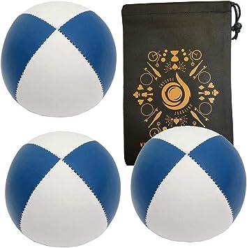 3 x Green// White 115g Cascade Classic Pro Thud Juggling Balls /& Bag