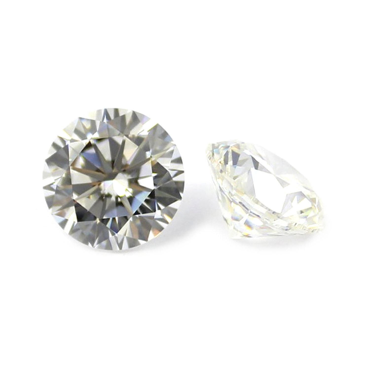 2.25 MM ROUND CUT WHITE ZIRCON ALL NATURAL AAA 3 PC SET