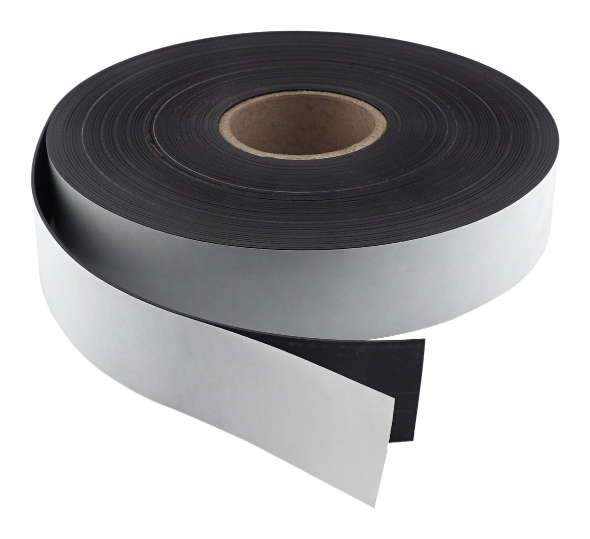 Master Magnetics Flexible Magnet Strip with Adhesive Back , 1/16'' Thick, 2'' Wide, 50 feet (1 Roll)
