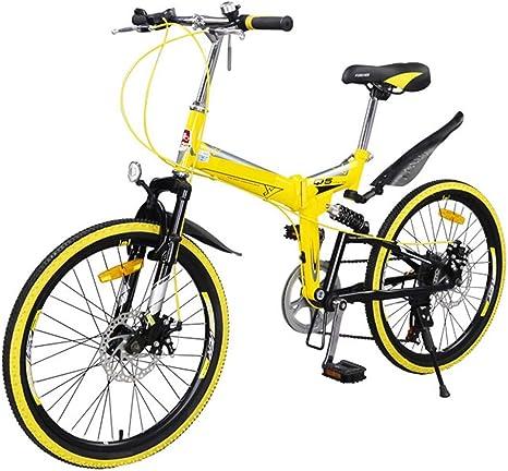 Coche plegable Bicicleta de montaña Velocidad Doble freno de disco ...