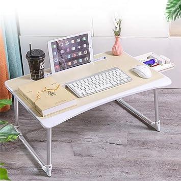 CZW Mesa plegable de oficina, caballete de mesa plana con ranura ...