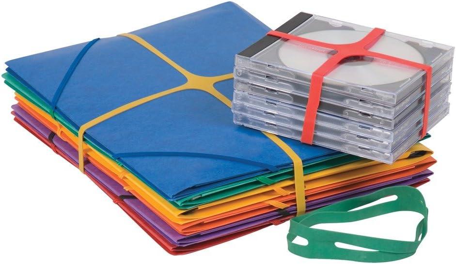 11/mm Q Connect Gummib/änder////X-Band verschiedene Farben,/100/St/ück 50 x 11 mm 100/gm