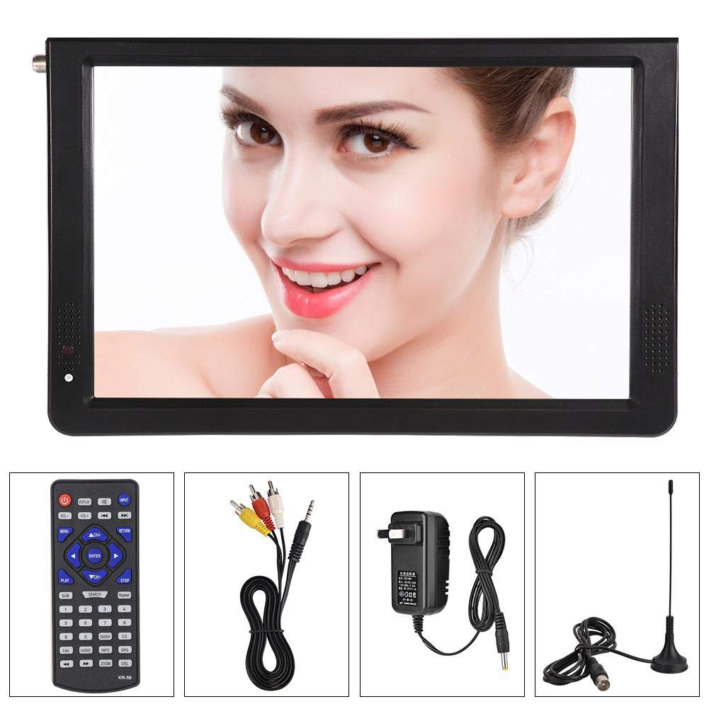 Eboxer ATSC Portable 4 Sizes Digital TV, TFT LED 1080P HDMI Television, Video Player for Home Car Outdoor Travel(12'')