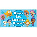 Amazon customized bubble guppies birthday invitation toys games bubble guppies birthday banner personalized party decoration backdrop maxwellsz