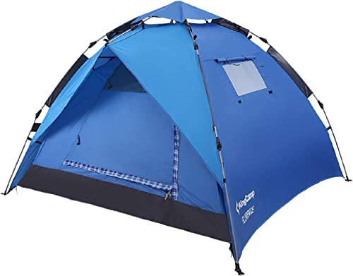 KingCamp 3-Person Quick-Up 2-in-1 Durable Roomy Lightweight Outdoor Camping Dome Tent with Two Door Awnings