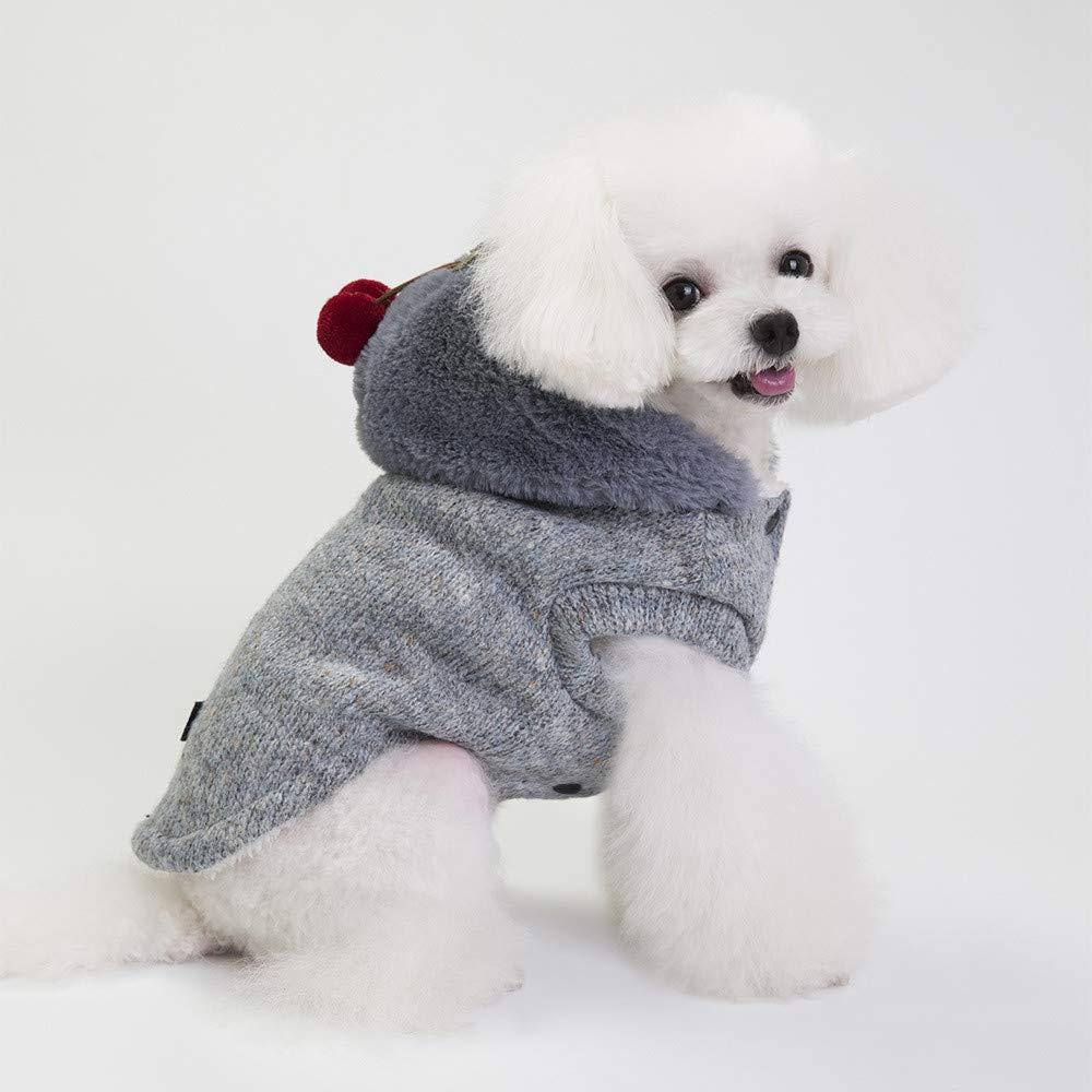 Ropa para Mascotas,Dragon868 Navidad otoño Invierno Chenilla pequeños Perros suéteres de Mascotas: Amazon.es: Ropa y accesorios