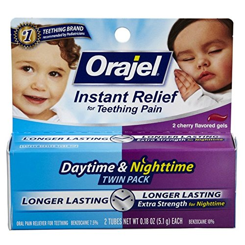 Orajel Teething Day And Night Twin Pack Instant Relief 5.1 O
