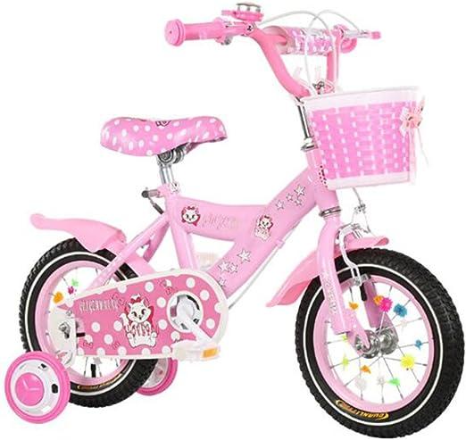 HUALQ Bicicleta para Niños Niña 3-9 Años bebé Carro de bebé 12/14 ...