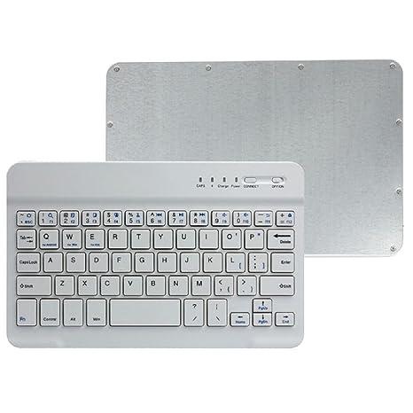KanLin1986 Teclado inalámbrico, Aluminio Ultra Delgado Bluetooth Teclado inalámbrico para PC Tablet teléfonos celulares (