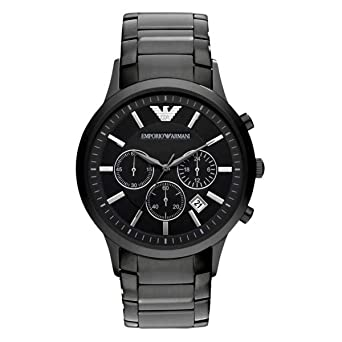134161968c609 Amazon.com  Emporio Armani Men s AR2453 Dress Black Mesh Watch ...