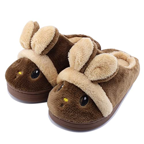 c680b966a53 Kid Slippers Cute Rabbit Girls Boys Winter Warm Comfort Home Shoes