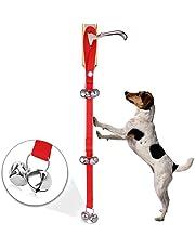 UEETEK Adjustable Pet Dog Door Bells for Potty Training Puppy Doorbell for Housebreaking and Housetraining