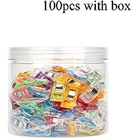 DUHUANG 100 Pinzas de plástico mezcladas para Costura