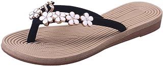 Donne Moda Spiaggia Scarpe Sandali, Solido Colore Fiore Flip Flops Sandali Pantofola Sandali da donna