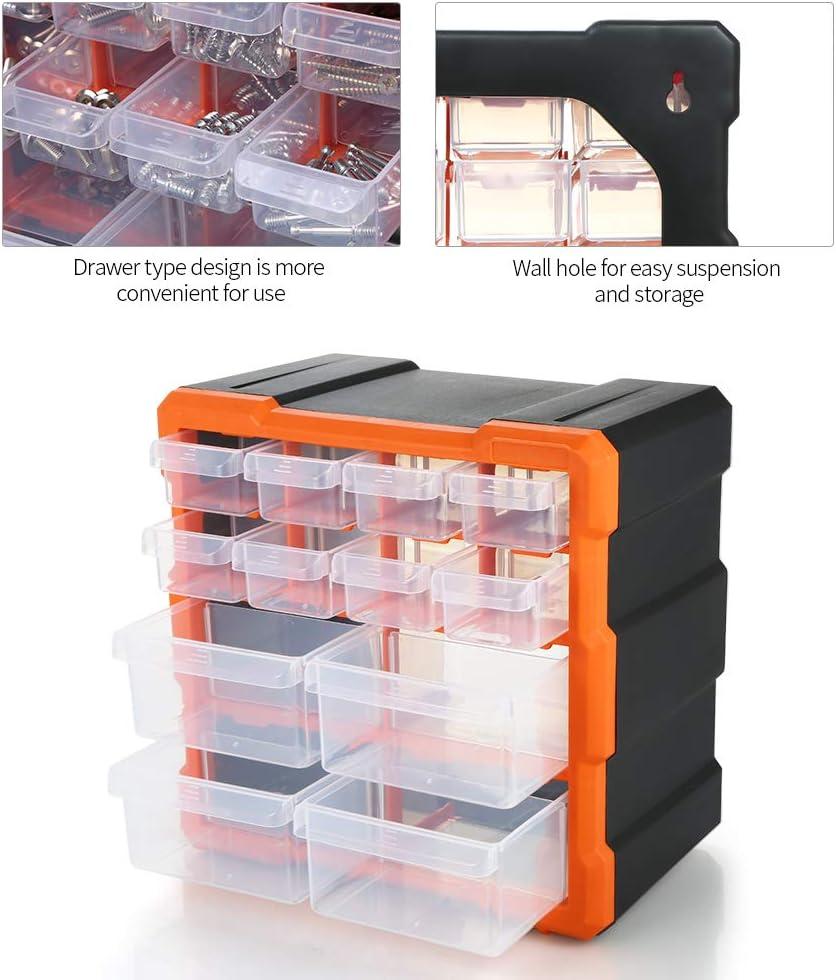 Bo/îte de rangement plastique avec 12 compartiments,Bo/îtes rangement Organisateur avec couvercle pour composant /électronique