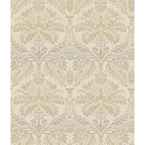 York Wallcoverings CR2741 Impressions Linear Damask Wallpaper, Iridescent ()