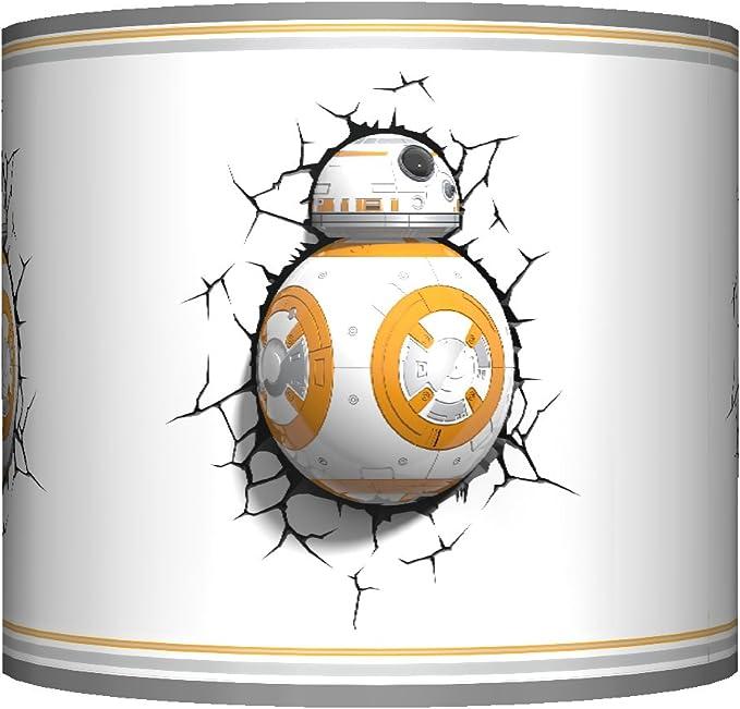 Star Wars Bb8 Ceiling Lampshade 10 Drum Boys Bedroom Lamp Shade Grey Amazon Co Uk Lighting